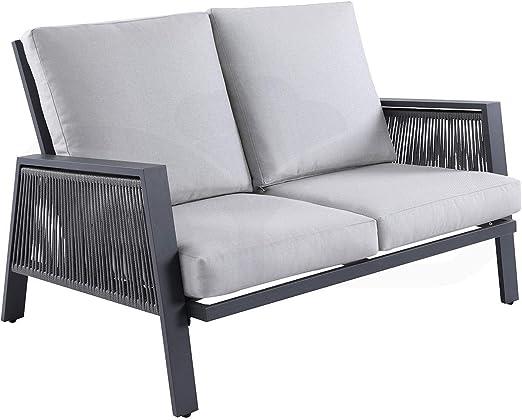 Sofá 2 plazas Aluminio de Primera Calidad y Cuerda sintética ...