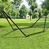 Inditradition Universal Multi-Use Heavy-Duty Steel Hammock Stand | Fits Hammocks 9 to 14 Feet Long, 150 KG Load Capacity (Black)