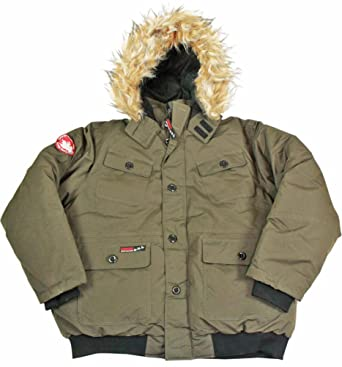 1dce90c17 Canada Weather Gear Men's Faux Goose Down Bomber Jacket Coat - Green ...