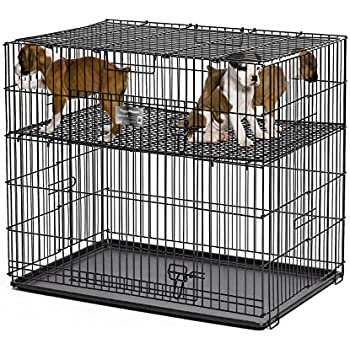 Amazon Com Midwest Homes Puppy Playpen Crate 224 05