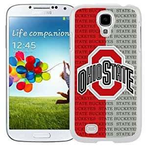 Beautiful And Popular Designed With Ncaa Big Ten Conference Football Ohio State Buckeyes 2 Protective Cell Phone Hardshell Cover Case For Samsung Galaxy S4 I9500 i337 M919 i545 r970 l720 Phone Case White