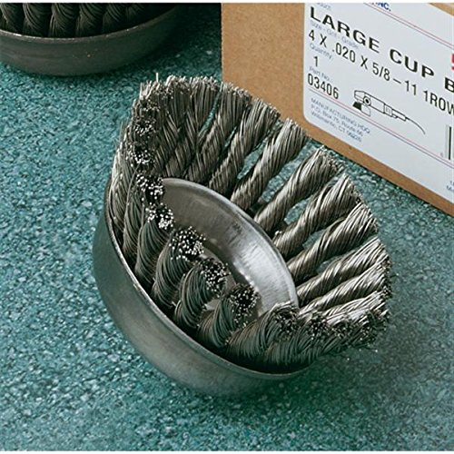 United Abrasives SAIT 06505 2-3//4 x .020 x 1//2-13 Arbor Carbon Bristle Knot Style Angle Grinder Small Cup Brush