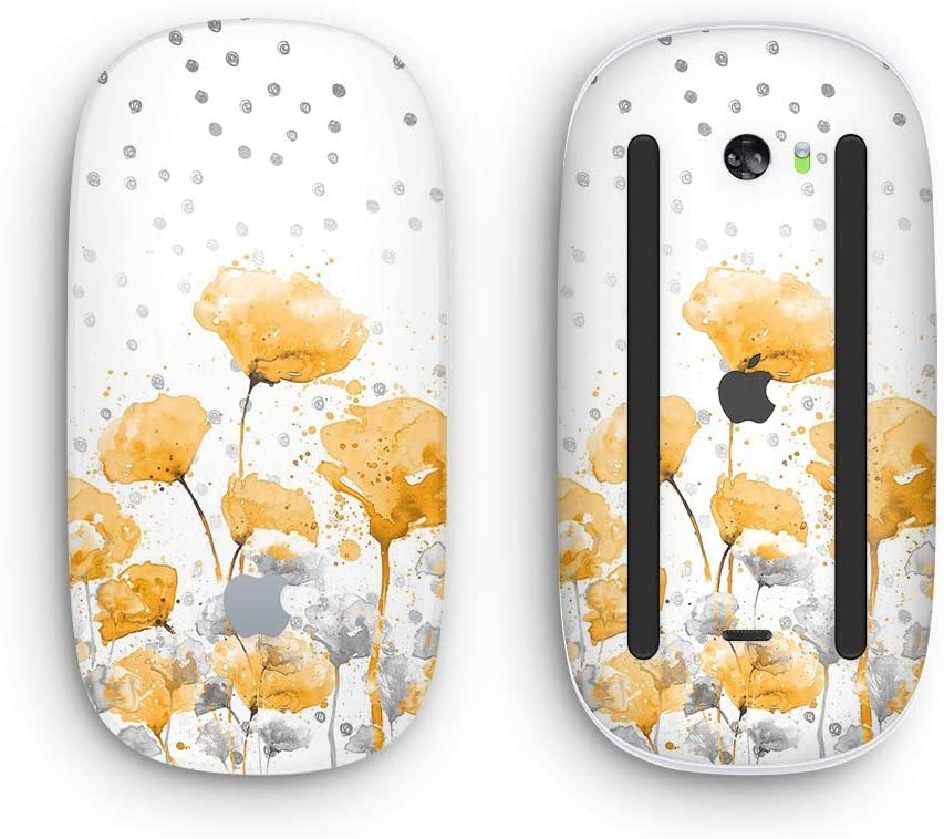 with Multi-Touch Surface Wireless, Rechargable Design Skinz Premium Vinyl Decal for The Apple Magic Mouse 2 Karamfila Yellow /& Gray Floral V1