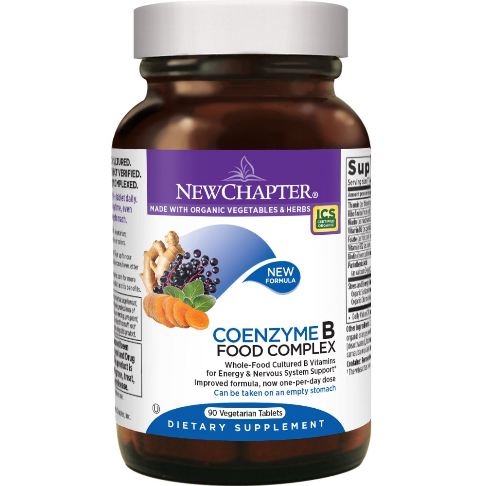 New Chapter Vitamin B Complex - Coenzyme B Food Complex with Vitamin B12 + Vitamin B6 + Biotin + Organic Non-GMO Ingredients - 90 ct by New Chapter