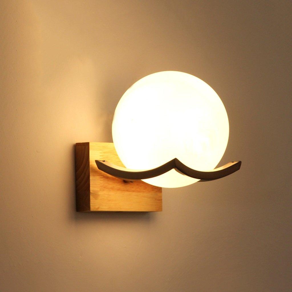 Lampe de chevet de couleur bois lampe de mur en bois minimaliste moderne - Applique murale (Couleur : Single head) AJZXHE