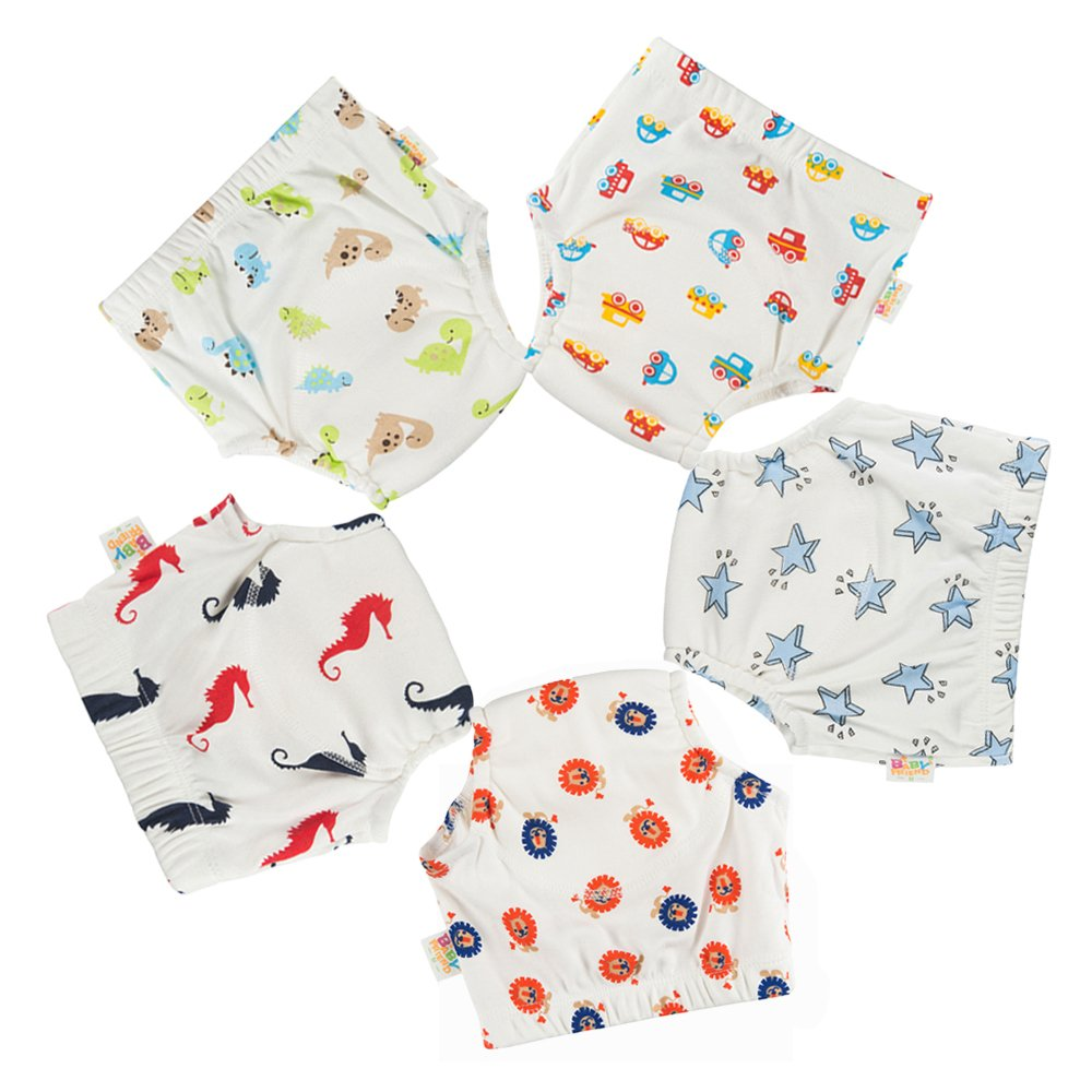 Babyfriend New Cute 100% Cotton Boy's Reusable Toilet Potty Training Pants Breathable Baby Underwear , Soft and Comfortable Gonghao Textile Co. Ltd TP5-055