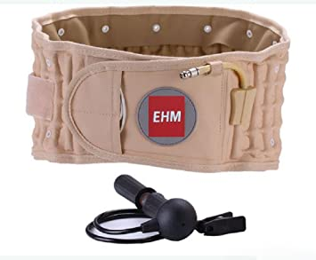 7ed3fe97a8d00 Image Unavailable. Image not available for. Color  EHM Lumbar Spinal Air  Decompression Back Belt Brace