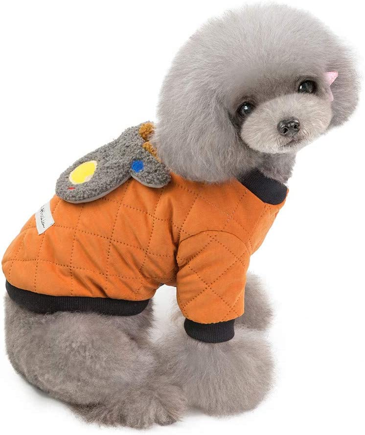 2XL, Blue Kaskawise Puppy Dog Pet Clothes Warm Jacket Puppy Winter Fleece Coat Doggy Christmas Apparel