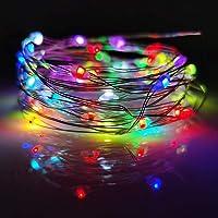 LIIDA - Juego de 12 guirnaldas de luces LED para centros de mesa de boda, guirnaldas de árbol de Navidad, tarro de…