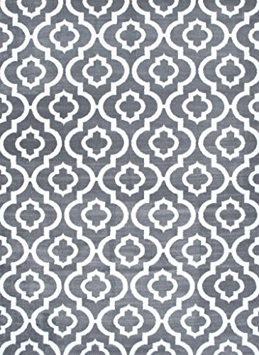 3028 Gray Moroccan Trellis Area product image