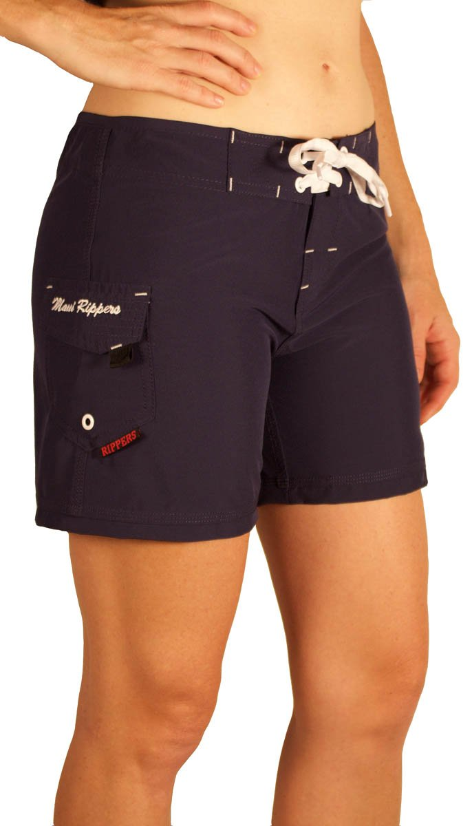 Maui Rippers Women's 5'' Board Short Stretch (4, Navy)