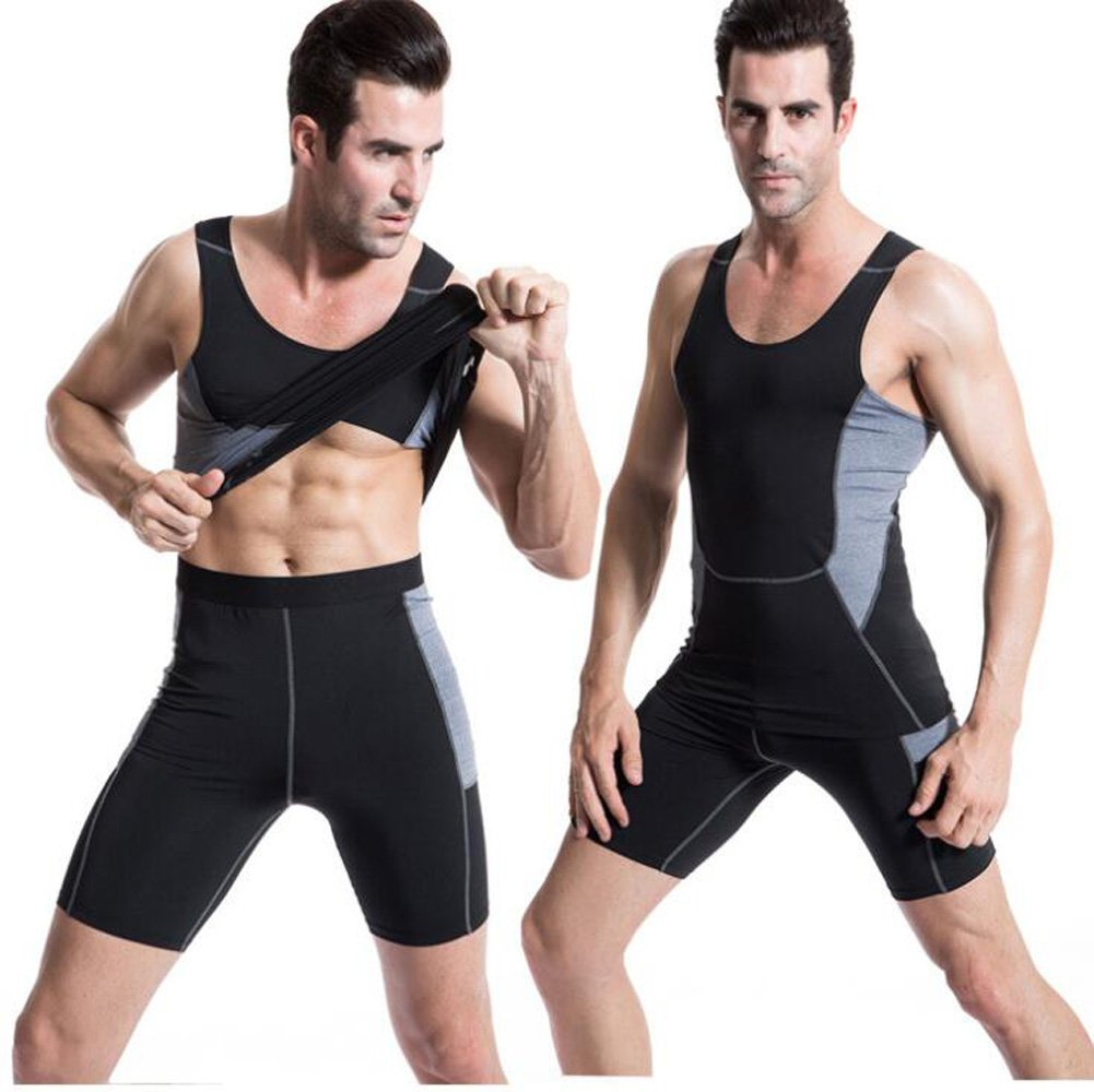 Kingswell Mens Pro Quick Dry Tights Undershirt Compression Base layer Body Shaper Basketball Excercise Black