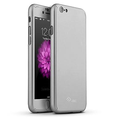 Carcasa a prueba de golpes I3C iPhone 6/6S plus carcasa trasera rígida de plástico con pintura metalizada