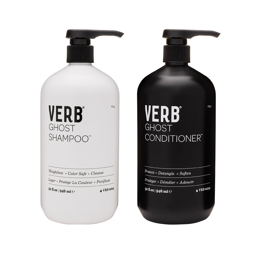 Verb Ghost Shampoo & Conditioner Set - Protect + Detangle + Soften 1L