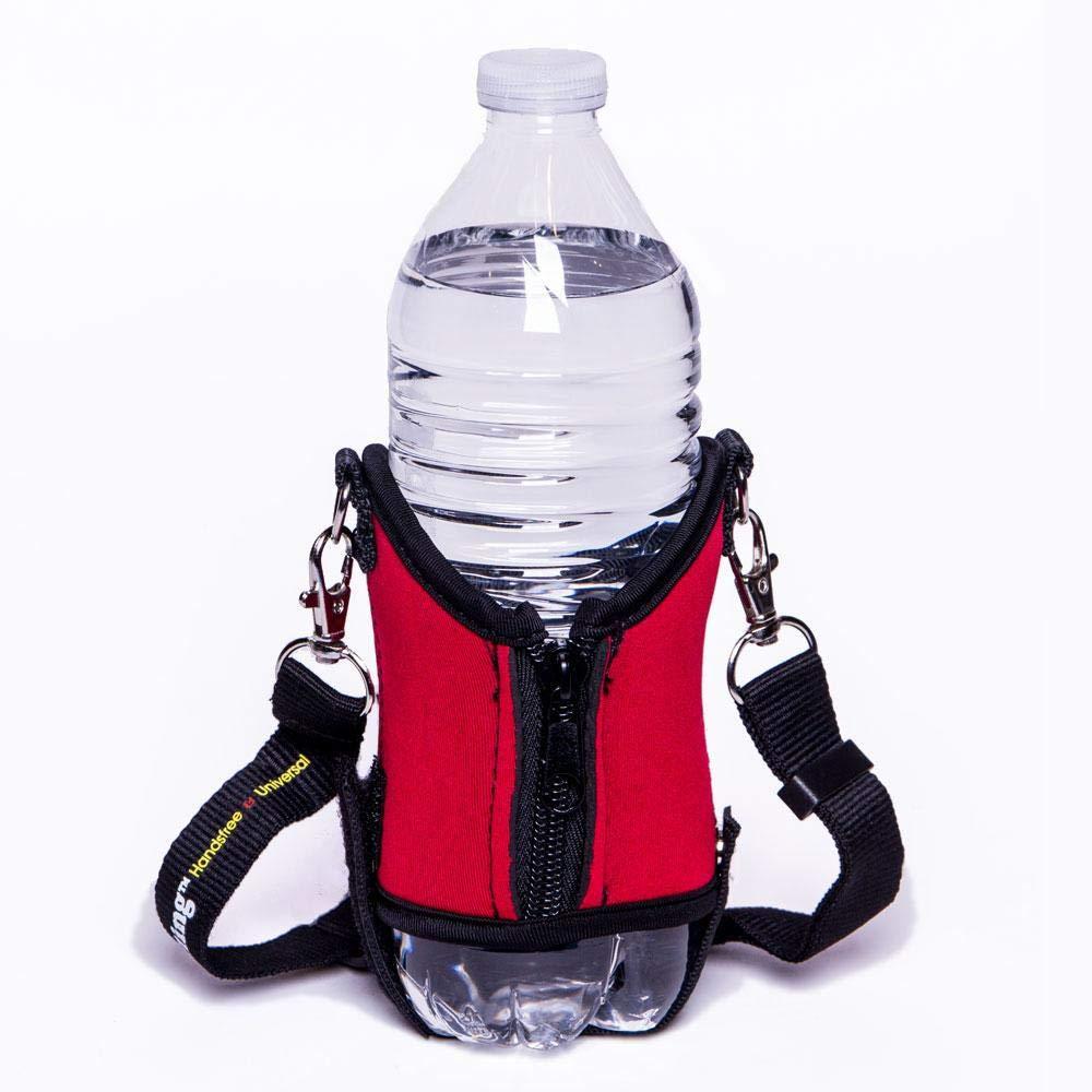 Drink Sling Original Water Bottle Holder Adjustable Crossbody Shoulder Strap RED 1100