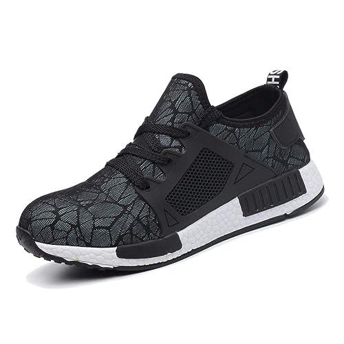 Zapatillas de Seguridad Hombre Mujer Ligeras S3 Zapatos de Seguridad Trabajo Antideslizante Calzado de Seguridad Deportivo: Amazon.es: Zapatos y ...