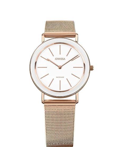 Jowissa Alto Reloj Mujer Suizo J4.399.L Blanco/Rosa: Amazon ...