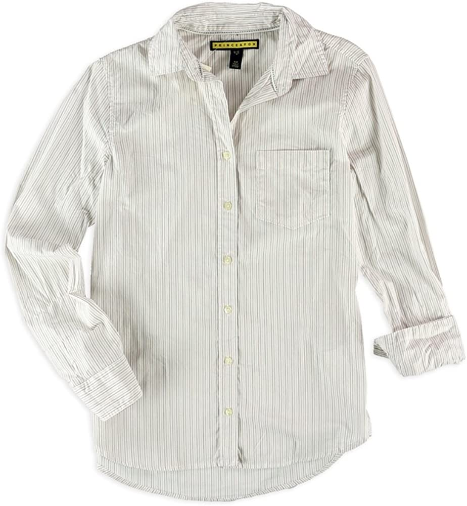 AEROPOSTALE Womens Striped Pocket Button Up Shirt