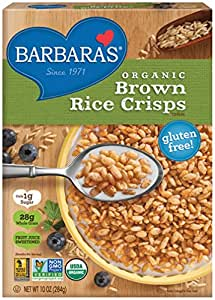 Barbara's Bakery Organic Brown Rice Crisps Cereal, 10 Ounce (Pack of 6)