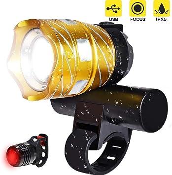 DOOK Luzde Bicicleta,Luz Bicicleta LED Recargable USB con 1200 ...