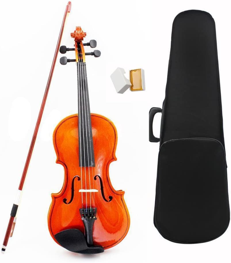 1//8 Size Acoustic Violin with Fine Case Bow Rosin for Age 3-6 M8V8 R Violin SODIAL