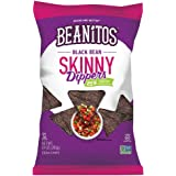 Beanitos Black Bean Skinny Dippers Reduced Fat, The Healthy, High Protein, Gluten free, and Low Carb Vegan Tortilla Chip Snack, 10 Ounce A Lean Bean Protein Machine for Superfood Snacking At Its Best