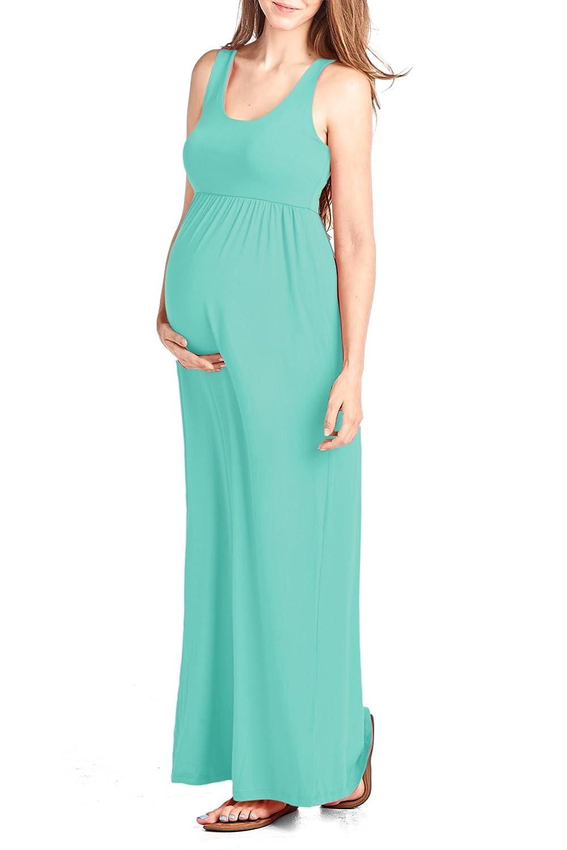 Beachcoco Women\'s Maternity Maxi Tank Dress at Amazon Women\'s ...