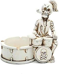 Creative Ceramic Cigarette Ashtrays for home or office use. Ashtray Home Ornaments for Scary Halloween Decorations,Decorative Skulls,Skeletons Figurines for Bar Accessories, Decor for Smokers