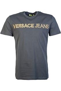 edc878586c940a Versace Men Smart Shirt BU20306 BT10830 Size 48 Green: Amazon.co.uk ...