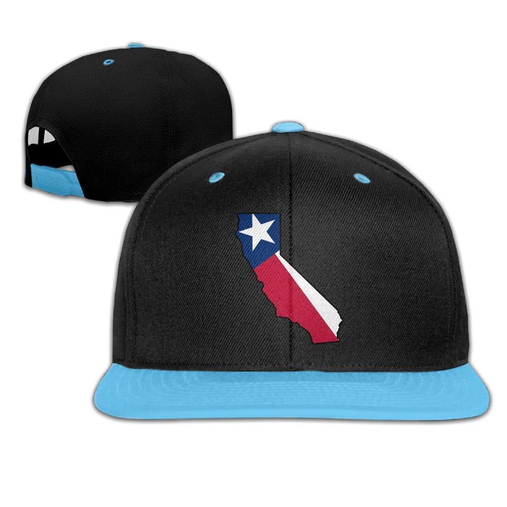 HERSTER Youth Girls California Outline Texas Flag Baseball Cap Hats Snapback Cotton Cap Hats
