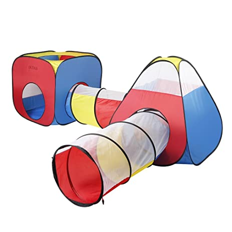 Pop Up Children Play TentOUTAD Toddler Tunnel Play Tents Ball Pits with 2 Tents  sc 1 st  Amazon.com & Amazon.com: Pop Up Children Play TentOUTAD Toddler Tunnel Play ...