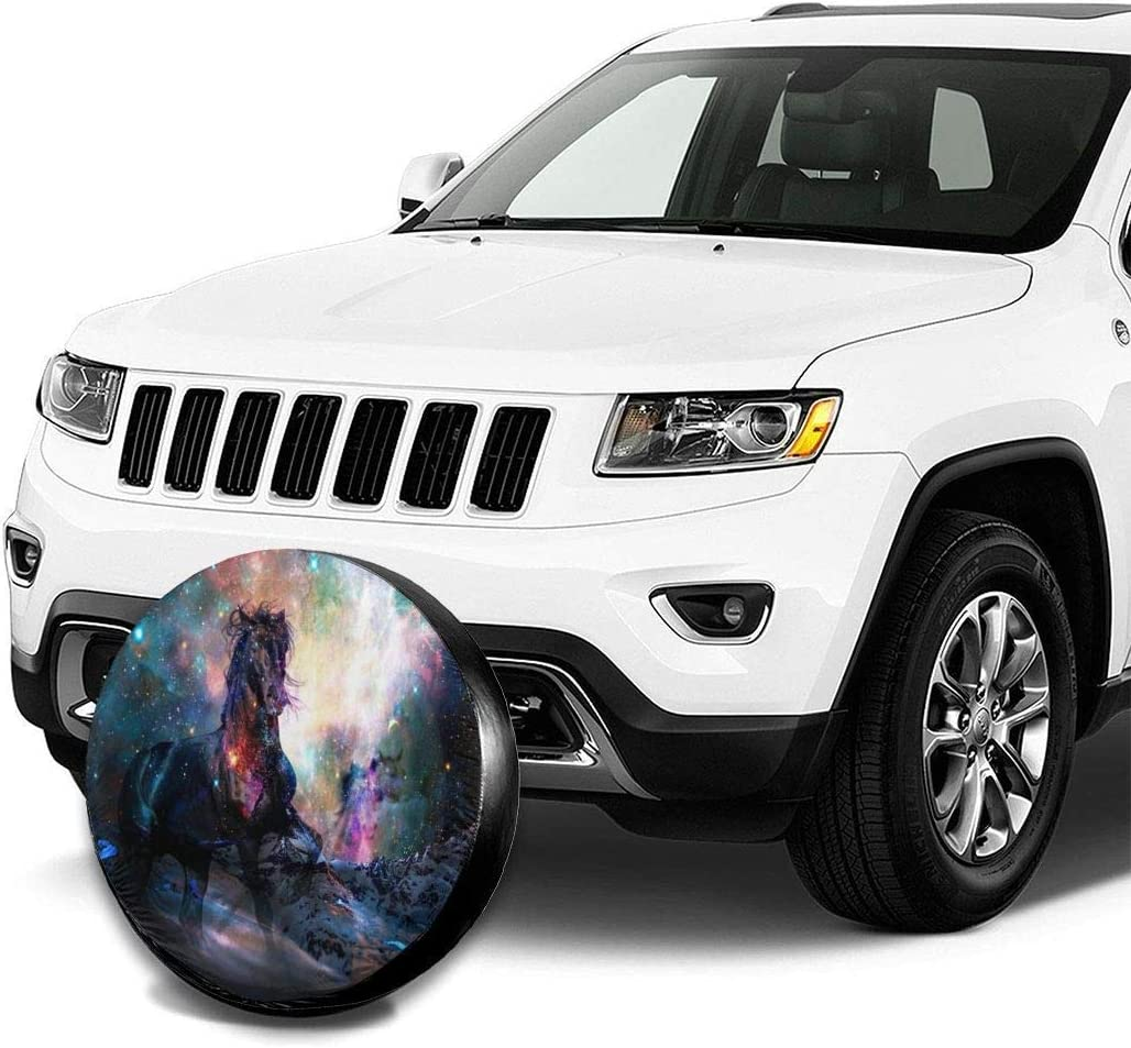SUV and Various Vehicles 14 15 16 17 inch Kejbr Couverture de Pneu Sunscreen Protective Cover Nebula Horse Water Proof Universal Housse de Roue de Secours Fit for Trailer RV
