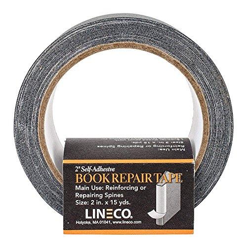 Book Repair Tape- 2 Inch Wide Self Adhesive Black (Book Binder Tape)