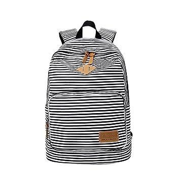 Mochila Escolar de Ocio Rayas Impresión Moderna Mochilas Escolares Juveniles Lona Bolsa Casual Backpack de Viaje para Niño Niña: Msliy: Amazon.es: Hogar