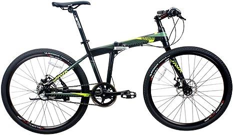 Hxx Bicicleta Plegable De Montaña, Marco De Aleación De Aluminio De 26