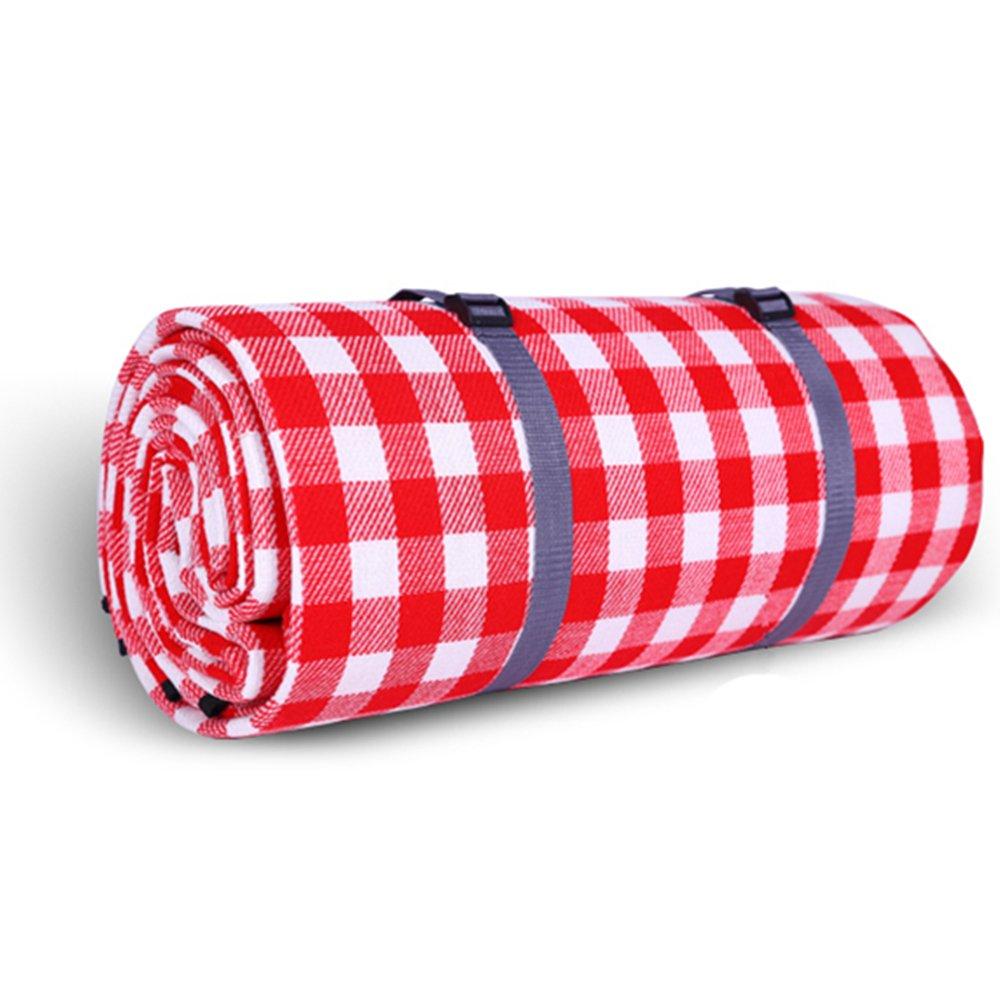 Outdoor 200x 200cm coperta da picnic picnic impermeabile Mat tappetini per gattonare per spiaggia a molla, con cinghie lineEUbea