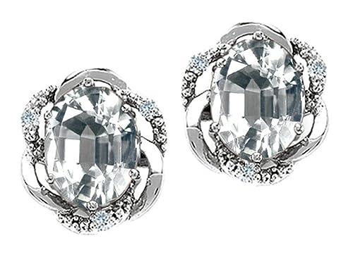 Tommaso Design Solid 14k Gold Oval 8x6mm Love Knot Earrings