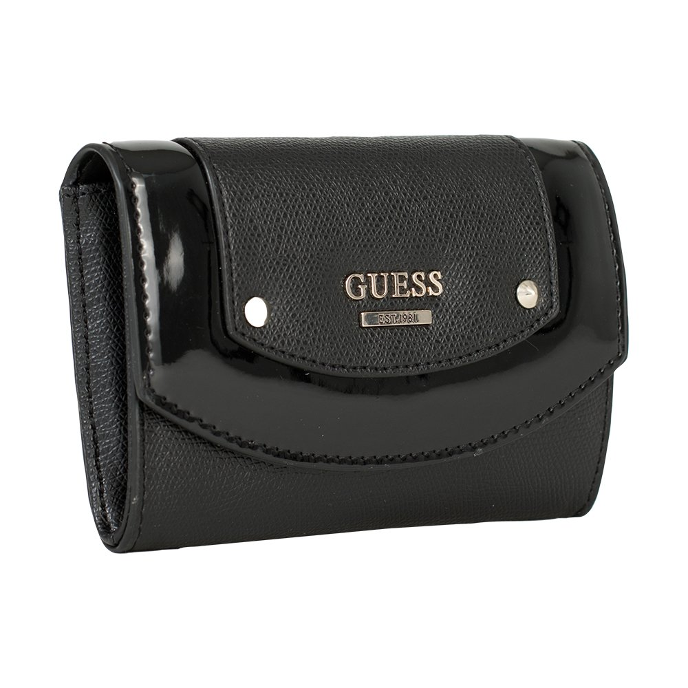 Guess Portefeuille Femme Cool Mix Slg Noir Amazoncouk Shoes Bags