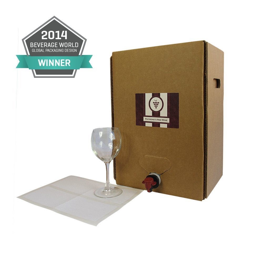 18L Wine Bag-In-Box Kits [Eco-Friendly Bottle Alternative] - Easily Bottle, Dispense & Store Liquids - Perfect For Home Winemakers (Includes 2-18L bags and boxes - a 2 Carboy equivalent) from Astropaq
