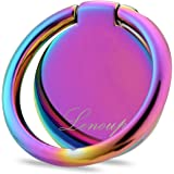lenoup Rainbow Cell Phone Ring Stand Holder,Purple Multicolor Ring Grip Kickstand,360 Rotation Metal Finger Ring for…