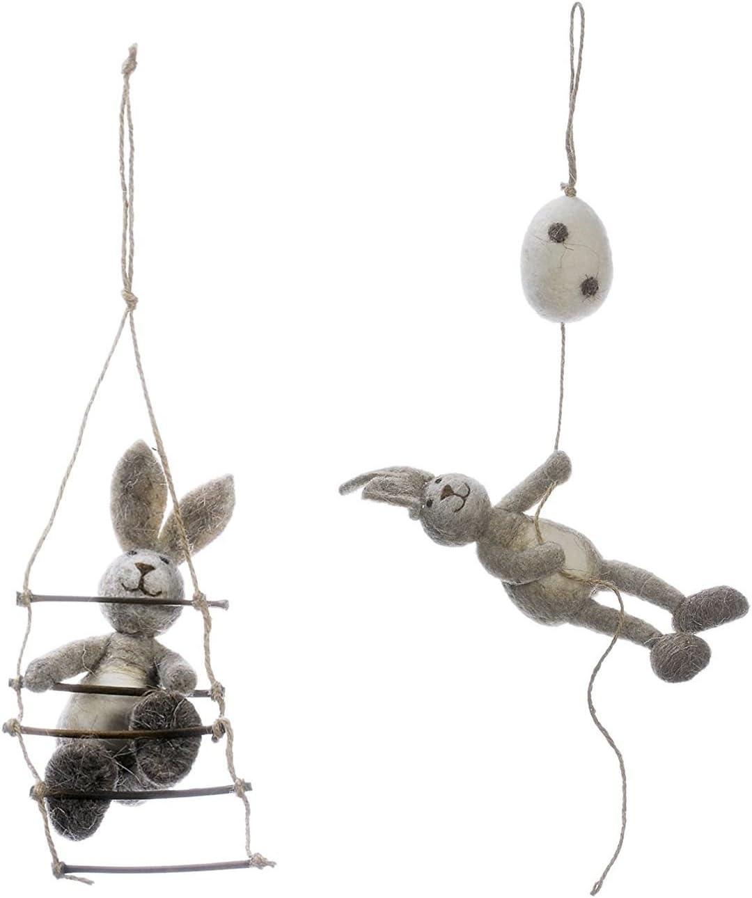 2 pcs colgante conejo en escalera con huevo de Pascua pares para colgar en la ventana decorativa Decoración de Pascua: Amazon.es: Hogar