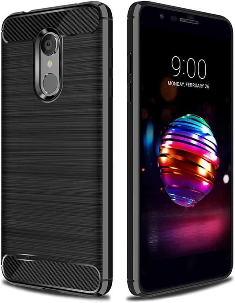 LG K30 Case,LG K10 2018 Case,LG Phoenix Plus Case,LG Premier Pro Case,LG Harmony 2 Case,LG X4 Plus Case,Asmart Shock Absorption LG K30 Phone Case Slim Flexible Cover TPU Bumper Protective Case, Black