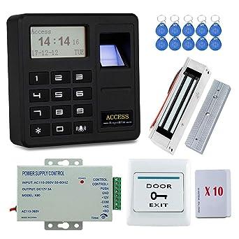 YAVIS 125KHz biométrico RFID Controlador de acceso de la huella dactilar del Kit de sistema del ...