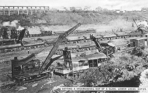 Panama Canal 1910S Nconstruction Of The Lower Gatun Locks Of The Panama Canal Original Souvenir Photopostcard From Panama City Poster Print by (18 x 24)