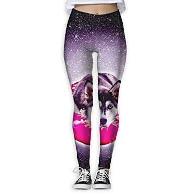 69168ceaf8c293 Amazon.com: LINGMEI Outdoor Space Galaxy Dog Women's Yoga Pants Capri  Leggings Skinny Pants For Yoga Running Pilates Gym(S-XL): Clothing