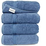 """Turkish Luxury Hotel & Spa Collection 27""""x54"""" Bath Towels Turkish Cotton Organic and Eco Friendly (Blue)"""