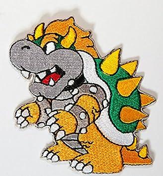 Bowser parche bordado hierro en placa de disfraz Cosplay Mario ...