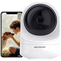 Muson WiFi Home Camera for Baby/Pet/Nanny 1080P HD Indoor Security Wireless Camera with Motion Detection, Night Vision…