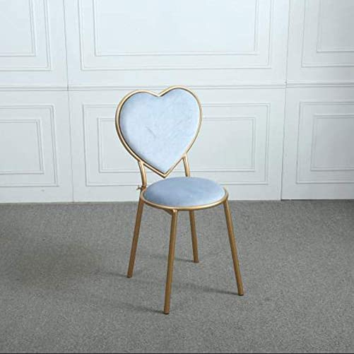 Wrought Iron Heart-Shaped Stools Flannel Lounge Chairs Kitchen Counter Dessert Shop High Bar Stool
