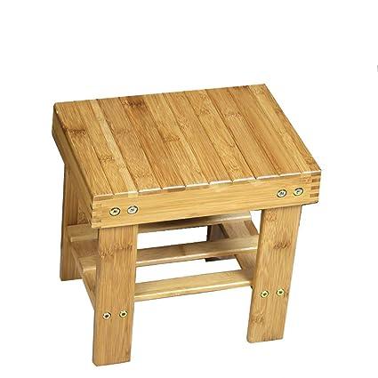 Sgabello In bambù Quadrato Colore Legno Famiglia Seduta per ...
